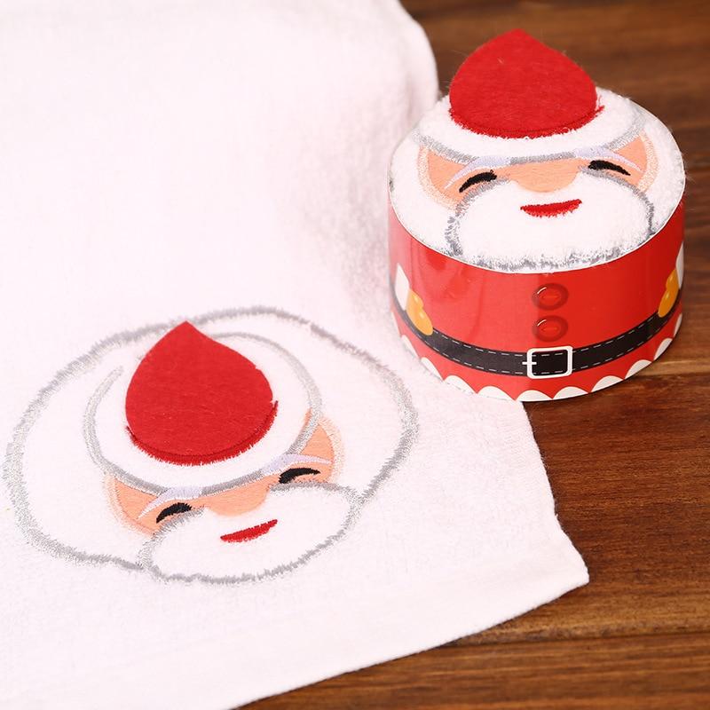 Creative Christmas Gift Box Towel Kindergarten Activity Gift Christmas Cake Towel Promotional Small Gift Santa Claus