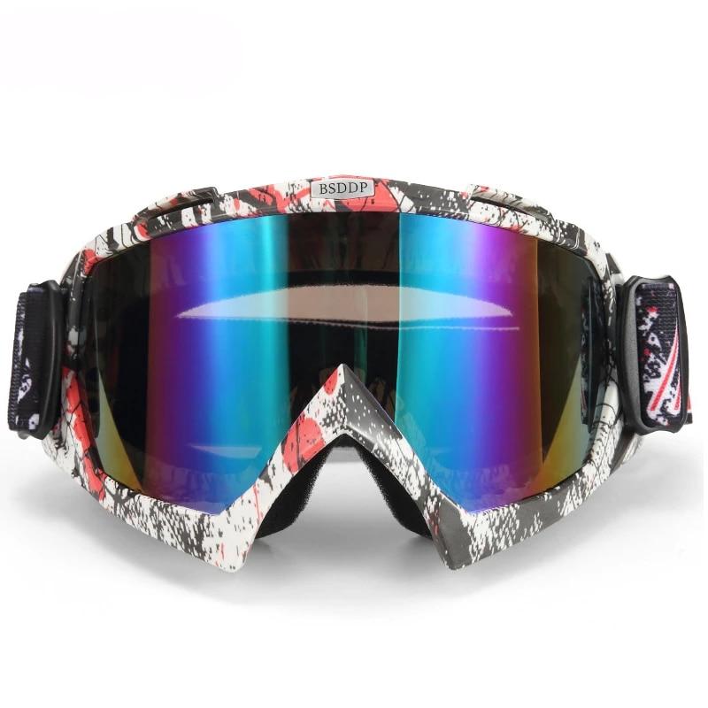 Motorcycle Motocross Helmets Face Mask Goggles ATV Road Eyewear Glasses New L2E1