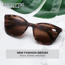 ZENOTTIC Butterfly Bifocal Reading Sunglasses Women Men Presbyopia Eyewear Anti Blue Light Reading Sun Glasses With Diopter