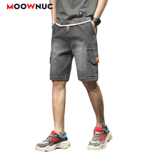 Jeans For Men 2020 Summer Sweatpants Streetwear Hip Hop Denim Knee length Trousers Casual Pants Male Solid Fit Designer Straight jeans for men denim trousers hip hop jeans casual pants autumn sweatpants streetwear male solid hole slim designer straight new
