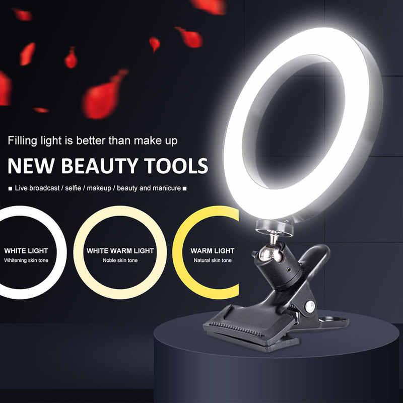Dimmbar Füllung Licht Beleuchtung Set Makeup Live for Handy Kamera Tragbar