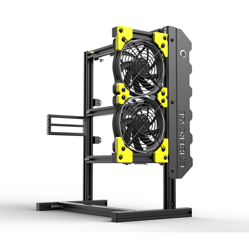 421*200*360mm DIY Open frame pc case Aluminum Personalized Vertical rack water cooling chassis atx gabinete computador