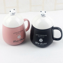 330ml ceramic coffee cup chocolate handle cartoon creative