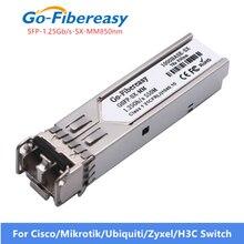 Światłowód gigabitowy moduł nadawczo odbiorczy SFP 1000Base SX MMF 850nm 550m 1.25G moduł SFP SX dla GLC SX MM SFP moduł nadawczo odbiorczy