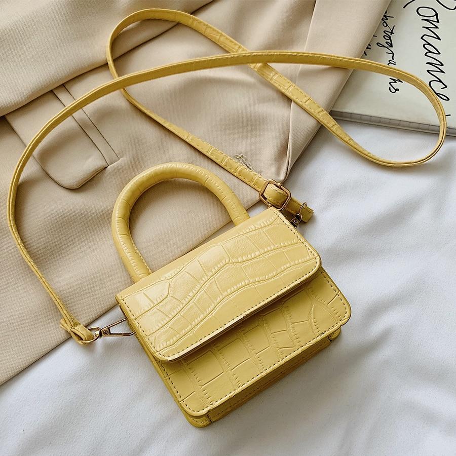 2020 Mini Crossbody Bag Fashion Small Handbags Women Bags PU Leather Shoulder Handbag Alligator Pattern Design Small Coin Purse