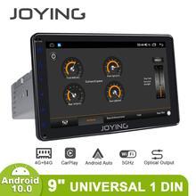 راديو بنظام تشغيل أندرويد 1 din مزود بشاشة مقاس 9 بوصات بنظام تشغيل أندرويد 10 نظام صوتي مركزي متعدد الوسائط مزود بنظام تحديد المواقع تلفاز رقمي لاسلكي 4G