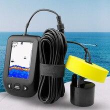 Erchang XF02 портативный рыболокатор 9 м кабель эхолот сигнализации 0,6-100 м глубина рыболокатор датчик Sonar для рыбалки