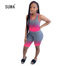 Wholesale Printing Casual Fitness Workout Active Wear 2 Piec