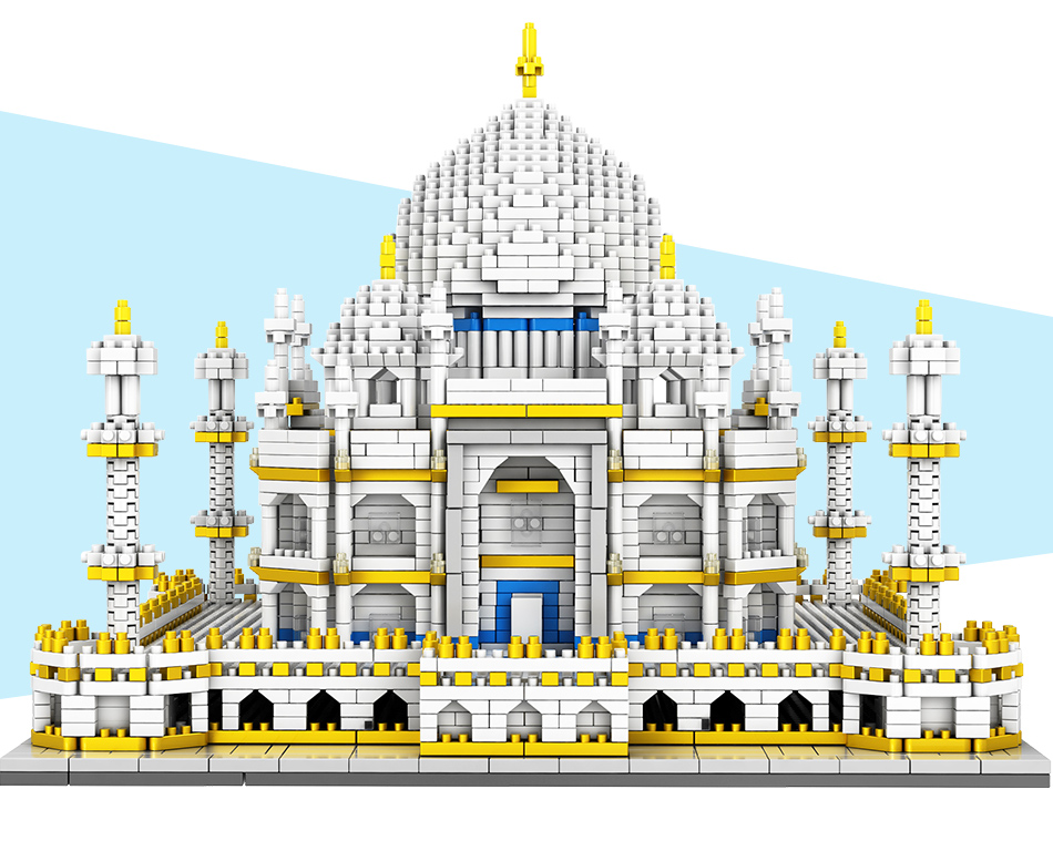 blocos mundialmente famosos arquitetura taj mahal 3d