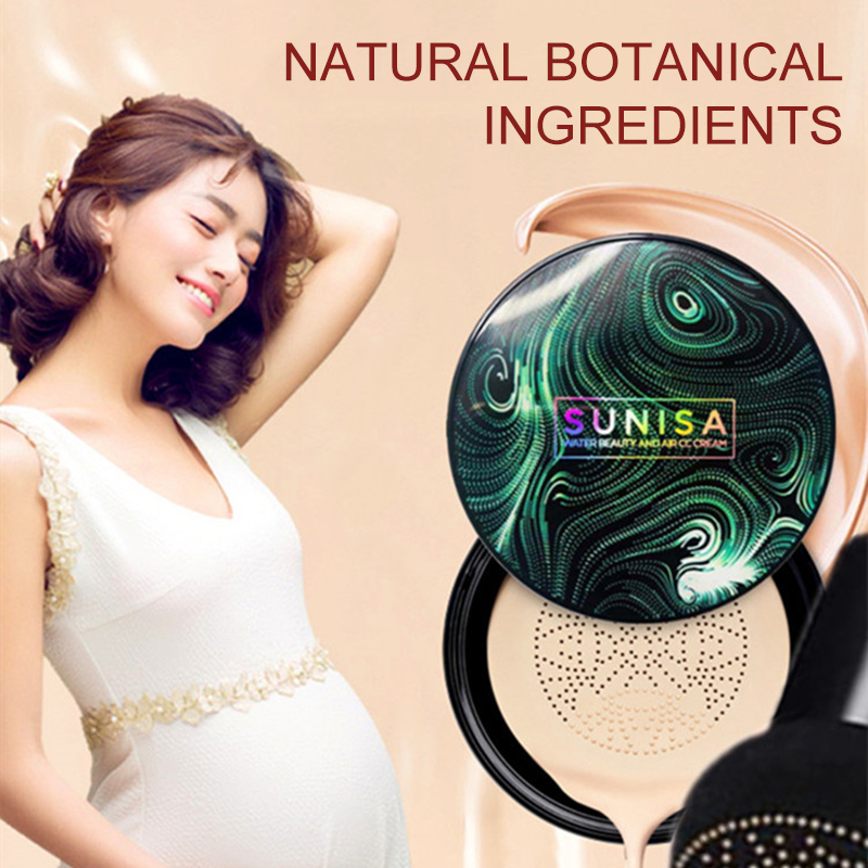 SUNISA Air Cushion CC Cream BB Cream Moisturizing Foundation Concealer Whitening Makeup Oil Control Korean Mushroom Head Gifts