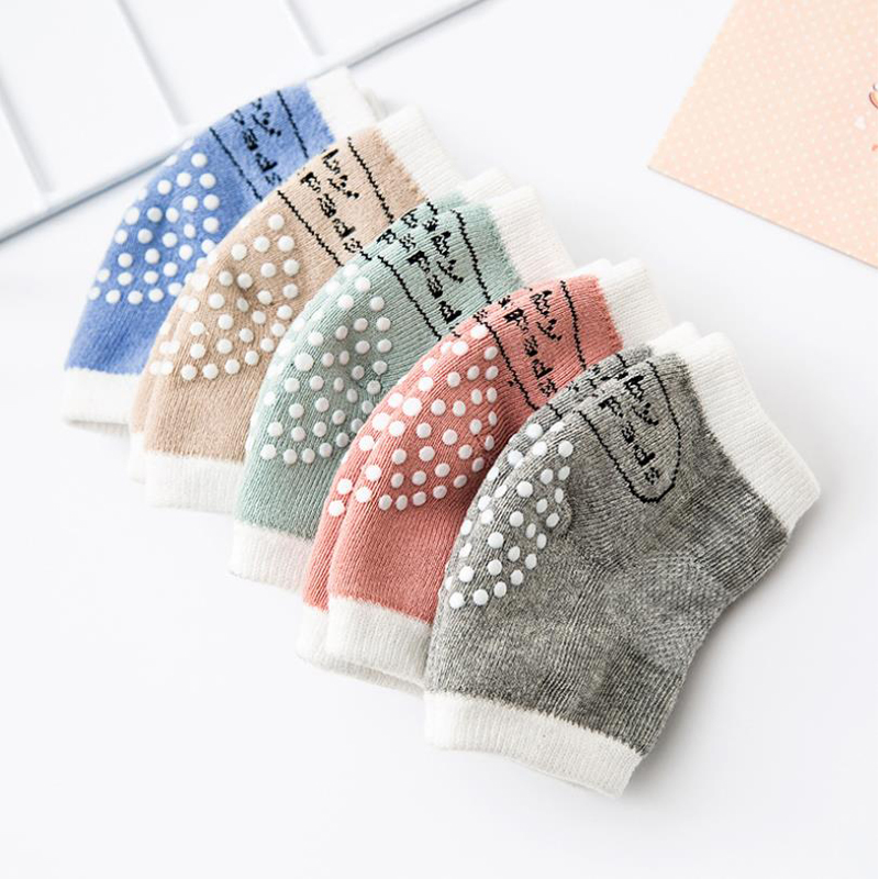 Newborn Baby Kneepad Newborn Baby A Pair Anti-skid And Anti-fall Of Child Protection Sock Cotton Suitable For 0-3-Year-Old Baby