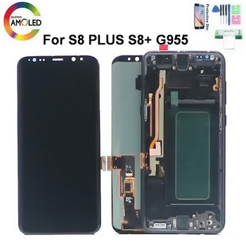 Original AMOLED S8+ LCD Screen For Samsung Galaxy S8 PLUS G955 G955F SM-G955F LCD Display Touch Screen Digitize with dead pixels original for samsung galaxy s8 s8 plus lcd display touch screen digitizer assembly for galaxy s8 g950 s8 plus g955 repair parts