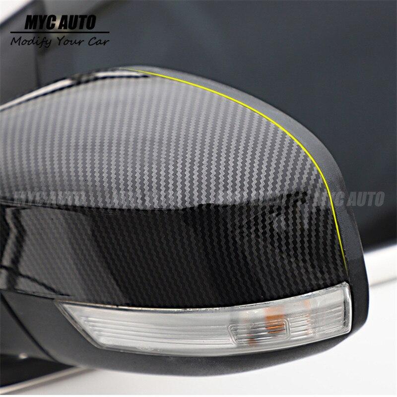 Rear Side Mirror Cover Cap Cup For Mitsubishi Evo 4 5 6 Carbon Fiber