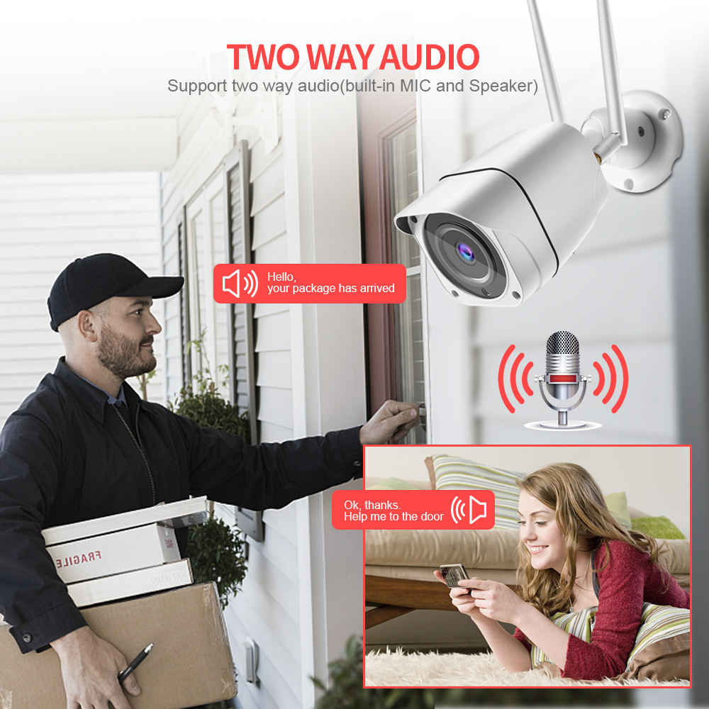 Image 2 - 3G 4G SIM Card Camera HD 1080P 5MP Wireless Outdoor Security Camera Bullet CCTV Audio IR 20M P2P Trigger Sound Alarm APP CamHi-in Surveillance Cameras from Security & Protection