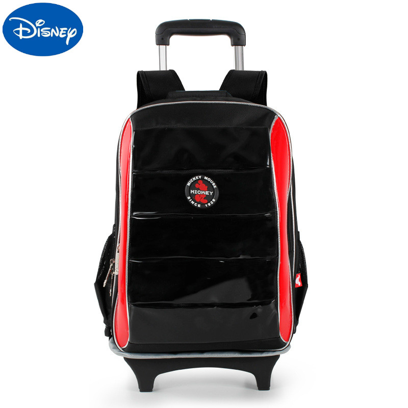Disney Pull Rod Schoolbag Schoolbags For Grade 1-6 Children Ridge Protection Bag Schoolbags For Pupils Aged 6-12 SM80624