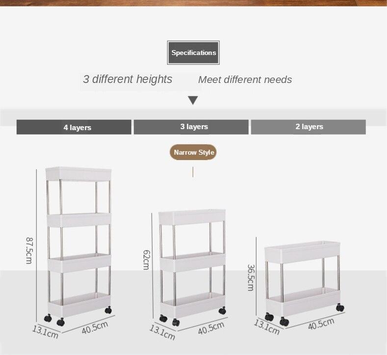 Adjustable 4-Tier Storage Organizer Rack