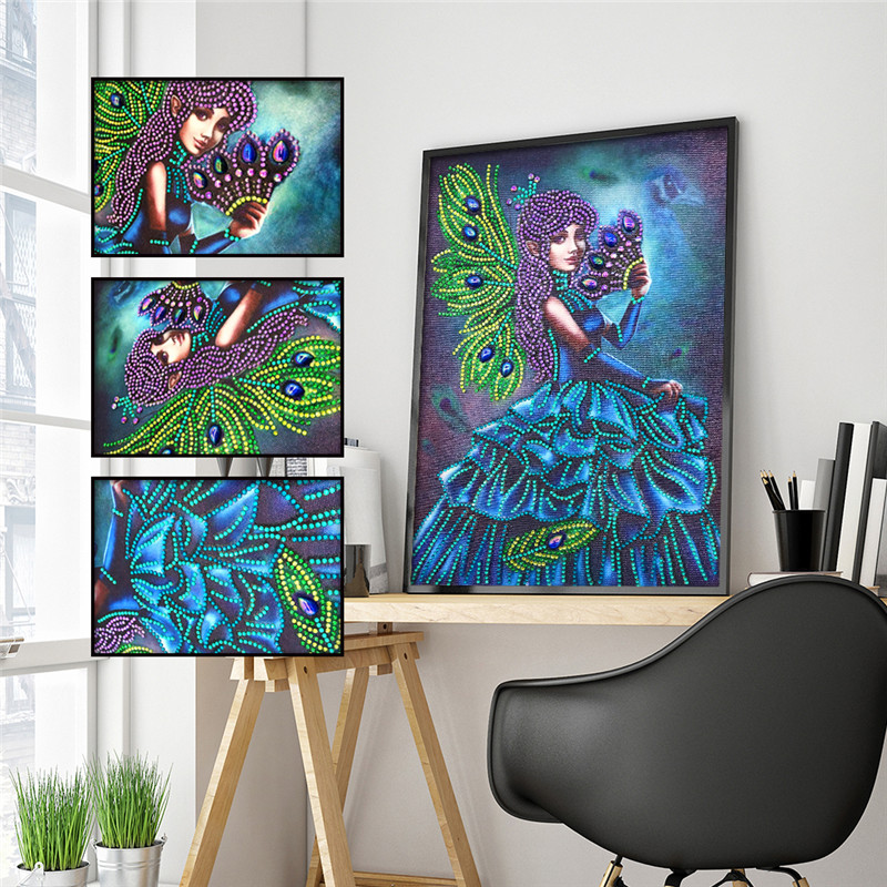 5D DIY Diamond Painting Special Girl Flower Embroidery Sticker Mosaic Home Decor