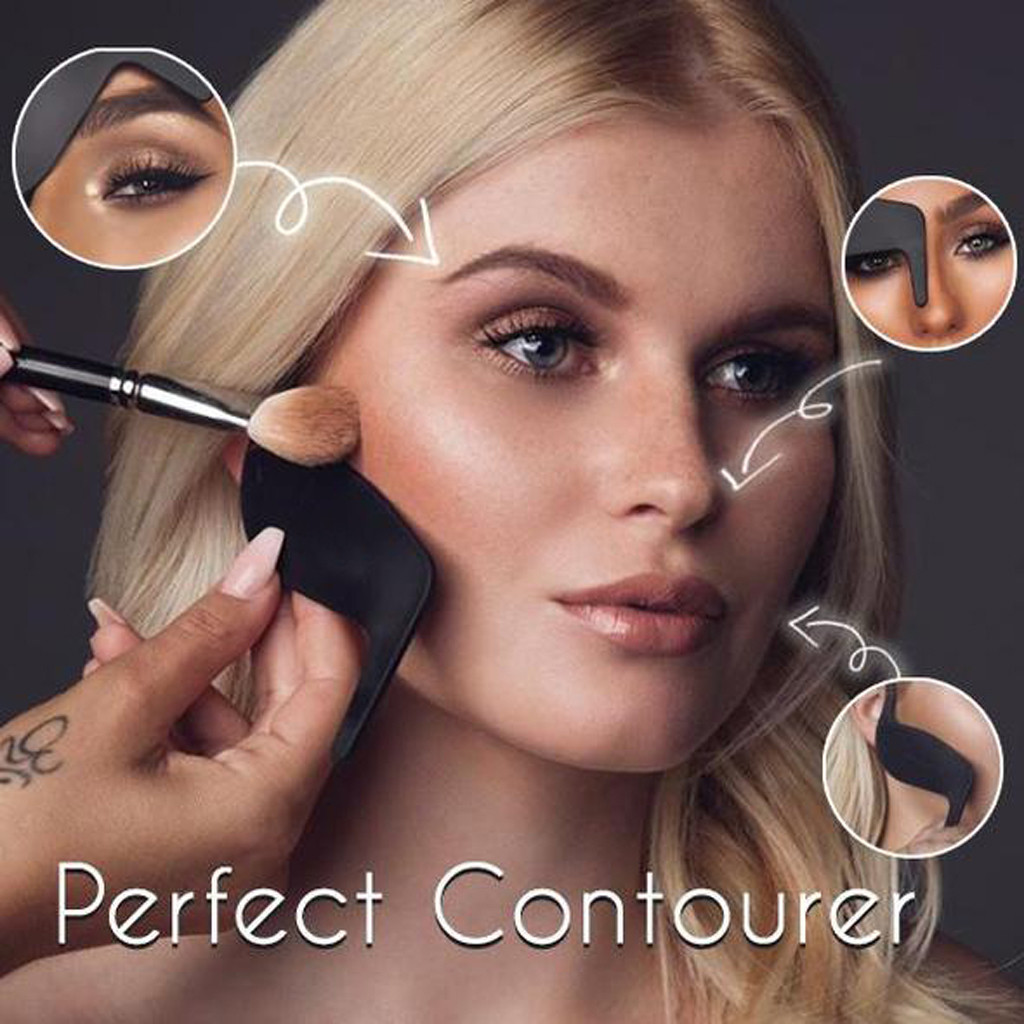 1PC Professional Beauty Contour Curve Perfect Contourer Makeup Tools Card Makeup Brush Tools Makeup Mould