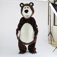 High Quality Big Bear Ursa Grizzly Mascot Costume Cartoon Character Free Shipping