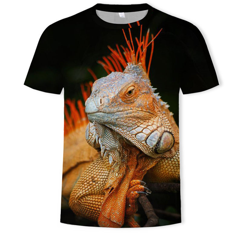 Cool T-shirt Men/Women 3d <font><b>Tshirt</b></font> Print Lizard/ <font><b>frog</b></font>/tiger/lion Short Sleeve Summer Tops Tees Fashion T shirt Fashion clothing image