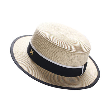 New Summer Parent-child Beach Hat Female Casual Panama Hat Lady Brand Women Flat brim Bowknot Straw cap girls Sun Hat fashion parent child straw sun hat cute children sun hats women bow straw cap beach big brim panama hat casual glris summer cap