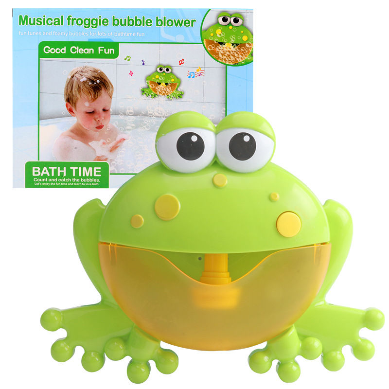 Hot Selling  Frog Crab Bubble Machine Music Bubble Bath Partner Tremble Electric Bubble Machine Toy