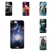 Weiche Silikon TPU Transparent Art Abdeckung Fall Tardis Doctor Who Box Für Apple iPhone X XS Max XR 4 4S 5 5C 5S SE 6 6S 7 8 Plus(China)