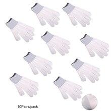 FOSHIO 5/10 par Nylon Anitslip biały rękawice robocze do samochodów Vinyl owijania okno Film naklejany odcień aplikacji Auto Wrap narzędzia