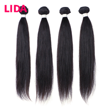 Lida Straight Hair Bundles Brazilian Hair Weave Bundles 100 Human Hair Bundles Natural Color Remy Hair Weave 4 Pieces Deal cheap =10 4 pcs Weft All Colors NONE Don t Dye The Hair To #613 By Yourself