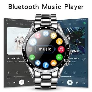 Image 2 - LIGE 2021 새로운 스마트 워치 남자 블루투스 전화 안 드 로이드에 대 한 IP67 방수 전체 터치 스크린 Smartwatch IOS 스포츠 휘트니스 추적기
