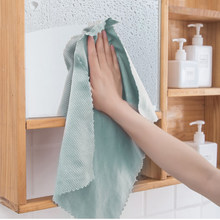 1Set/3 Pcs Kitchen Towel Cleaning Cloth For Window Glass Car Floor Rags Bowl Dish Ceramic Tile Wipe Duster Home Cleaning Tool