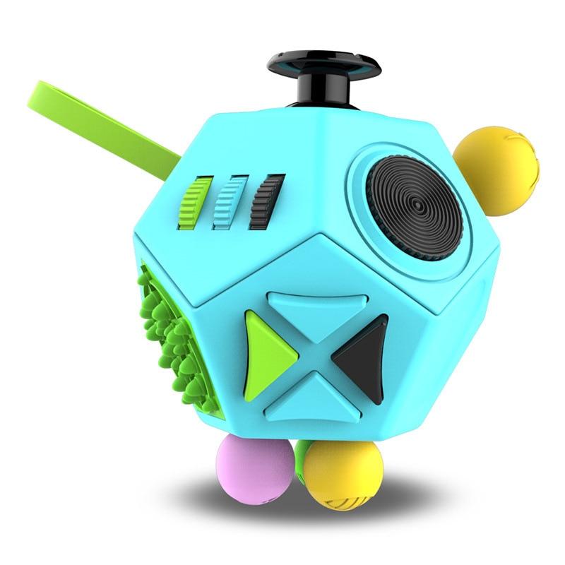 Edc mão para o autismo tdah ansiedade alívio foco crianças 12 lados anti-stress magia estresse brinquedos 3