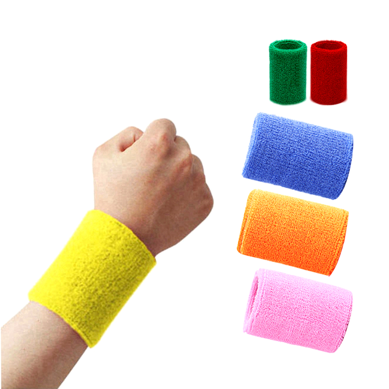 Sports Arm Sleeves Sweat-absorbent Breathable Wristbands Men And Women Outdoor Basketball Running Fitness Wristbands