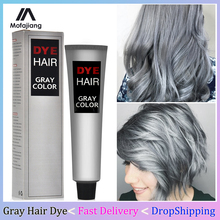 Hair-Dye Permanent Gray Color White Fashion The 100ml Natural-Plant-Extract-Cover Grandma-Grey