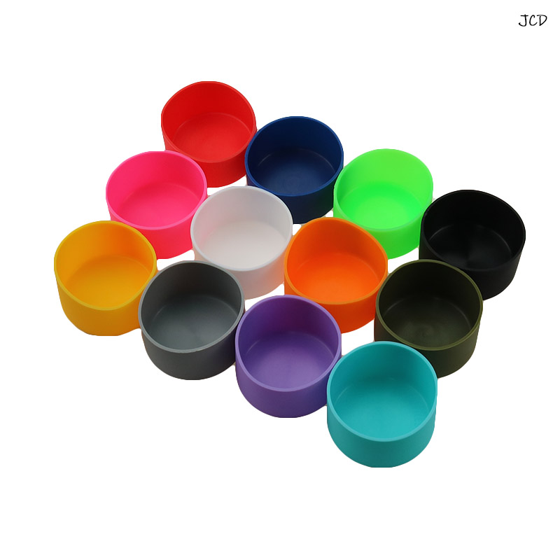 JCD 7.3cm Practical For Water Bottles Sport Skid Resistance Home Use Cup Bottom Cover Anti Slip Sleeve Coasters Silicone Boot