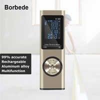 Borbede télémètre Laser télémètre USB Rechargeable 40m 60m 80m mesure Laser ruban Laser Mini Portable nouveau