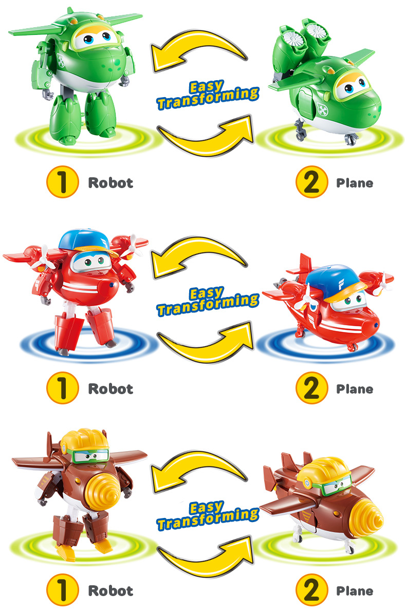 Super Wings Transforming 5 inch Airplane Robots 11