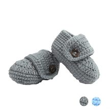 hot sale Cute 2020 Crib Crochet Casual Baby Handmade Knit Woolen Sock Infant Shoes Baby Shoes 0-1 years old footwear chaussures(China)
