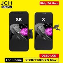 Klasa AAA + + + wyświetlacz LCD dla iPhone X OLED ekran dotykowy Digitizer zgromadzenie LCD dla iPhone XR XS 11 XS Max ekran TFT wymiana