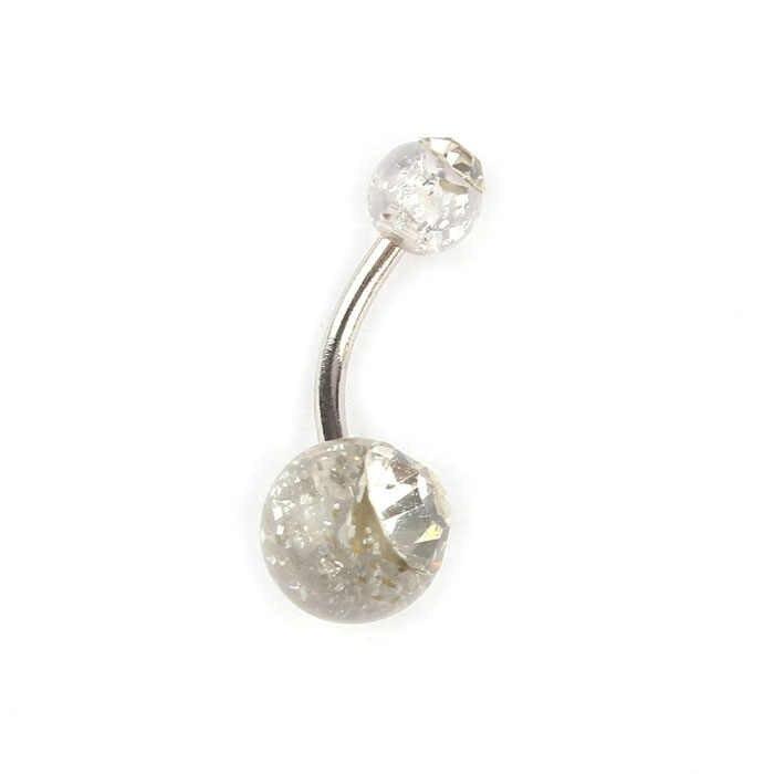 10 # נשים אופנה טבור טבעת טבור טבור ברבל ריינסטון קריסטל כדור פירסינג גוף 2020 פופולרי סקסי טבור טבעת
