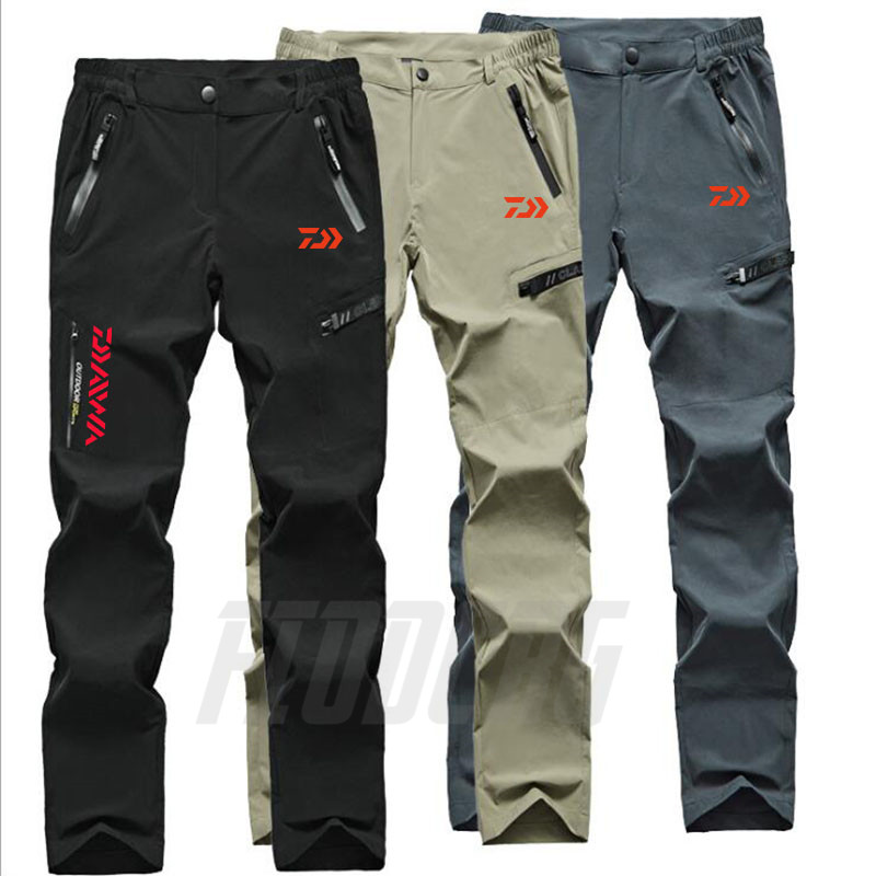 Daiwa Fish Pants Outdoor Quick Dry Pants Men Summer Breathable Camping Trousers Removable Shorts Trekking Hunting Fishing Pants