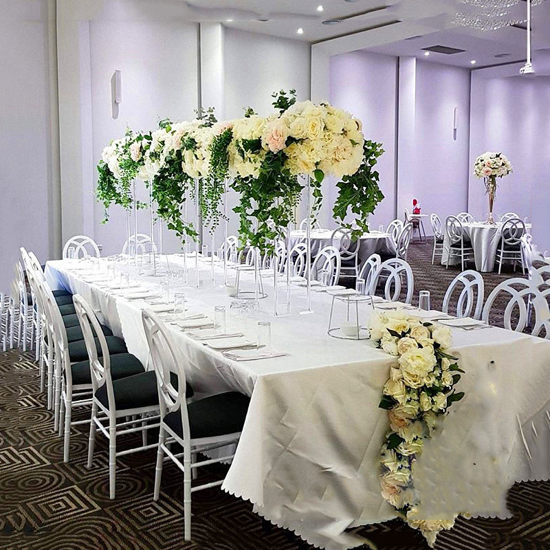 JAROWN New Wedding Desktop Centerpiece Flower Stand Flower Pillar Acrylic Crystal Road Lead Wedding Scene Layout Props (4)