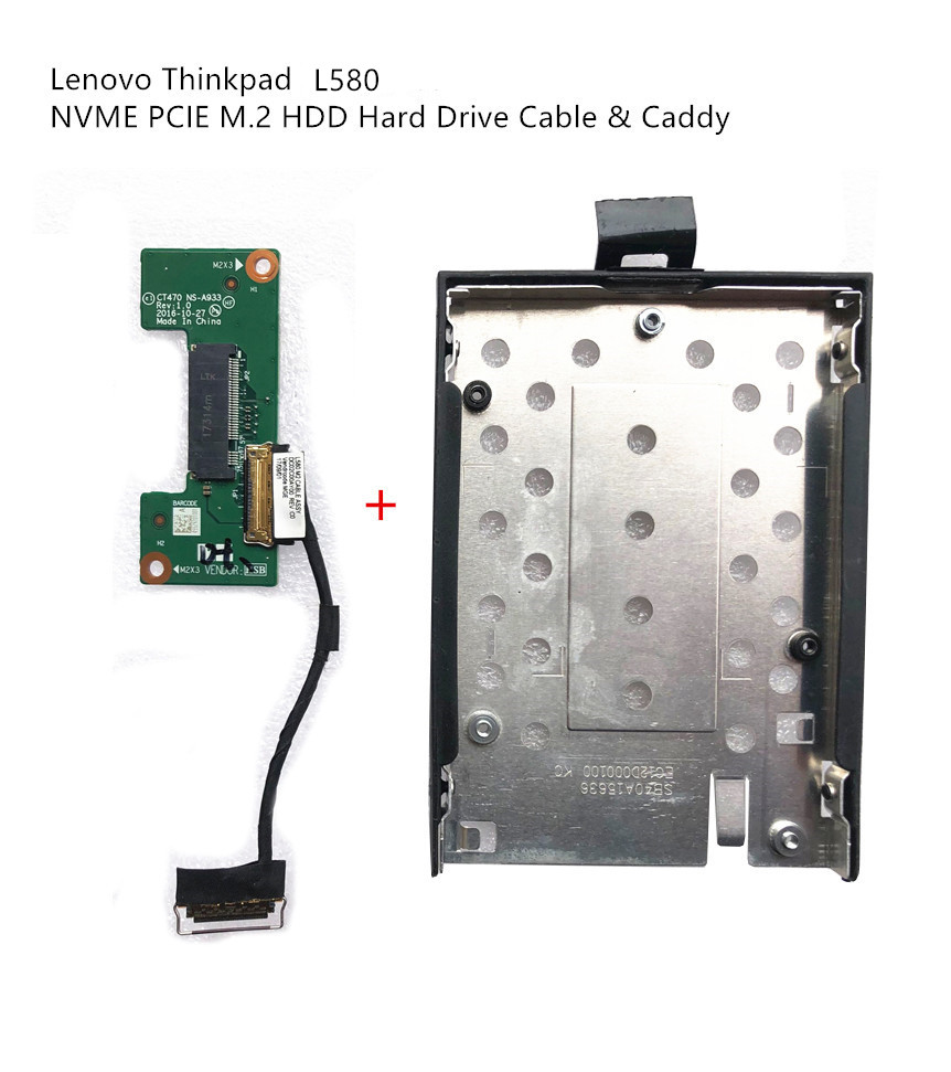 New Original For Lenovo Thinkpad L580 NVME PCIE M.2 HDD SATA Hard Drive Connector Board & Caddy