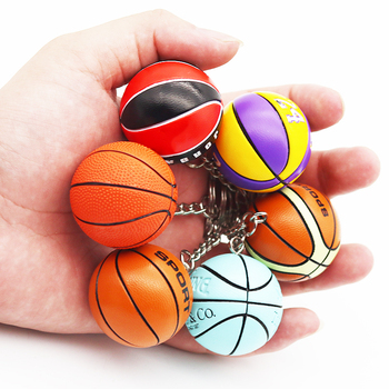 Llavero deportivo a la moda, llavero con pelota de básquet, colgante para regalo de deportista favorito