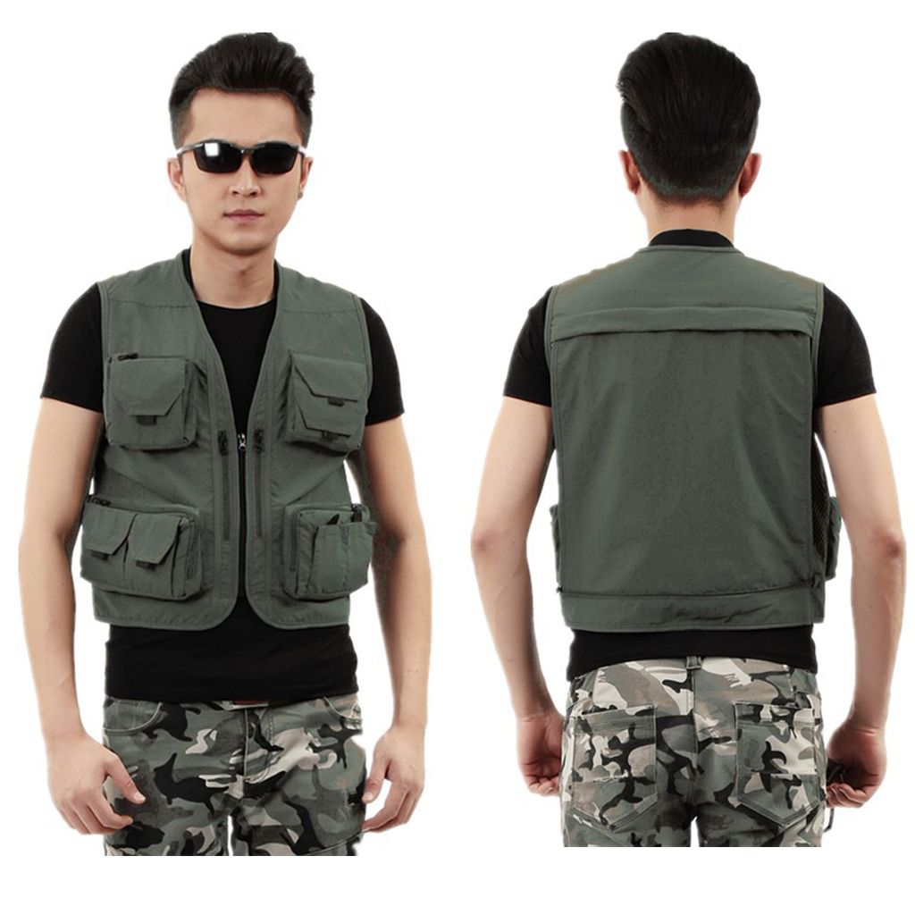 Mesh Fly Fishing Vest Pack Breathable Hunting Breathable Waistcoat Jackets