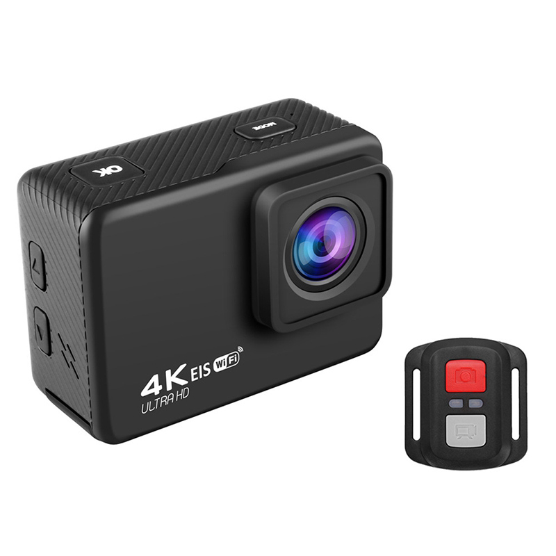 4K / 60Fps WIFI Action Camera 170 degree Wideangle EIS Underwater Waterproof Camera Helmet Go Sports Pro Vlog Camera