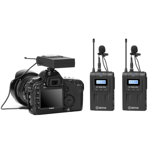 Image 2 - BOYA BY WM8 Pro WM4 Pro K2 K1 UHF Беспроводная микрофонная система всенаправленный петличный микрофон для ENG EFP DV DSLR