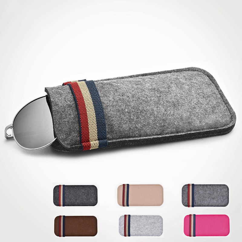 New Felt  Oversize Sunglasses Case For Women Colorful Candy Eyeglasses Box Soft Bag Accessoires Lunettes Reading Glasses Bag