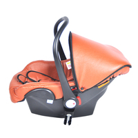Leather baby basket newborn safety seat car sleeping basket car portable easy to clean cradle 0 15 months baby