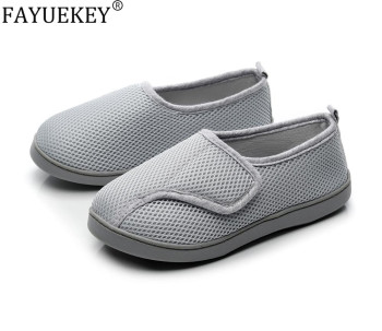 Women Shoes Home Soft Mesh Breathable Pregnant Slippers anti-slip Diabetic Arthritis Edema Slippers for Expectant Mom Extra Wide